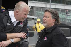 Rob Edwards with Michael Andretti, Andretti Autosport Honda