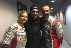 Il Team Manager del MetiorSport.it Vittorio Sala con Andrea Crugnola e Moira Lucca