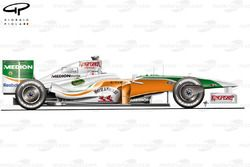 Force India VJM02, vista laterale Istanbul 2009