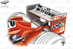 Ferrari F2004 (655) 2004 Spa rear wing