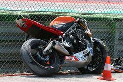 Bike of Stefan Hill, Profile Racing after his crash