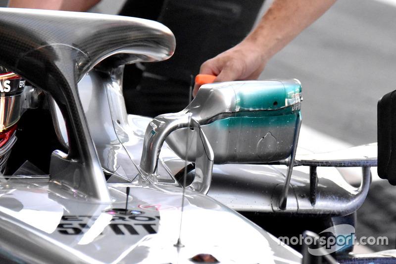 Espejo de Lewis Hamilton, Mercedes AMG F1 W09
