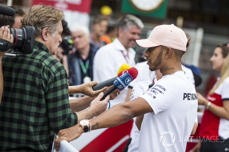 Lewis Hamilton, Mercedes-AMG F1 talks with the media