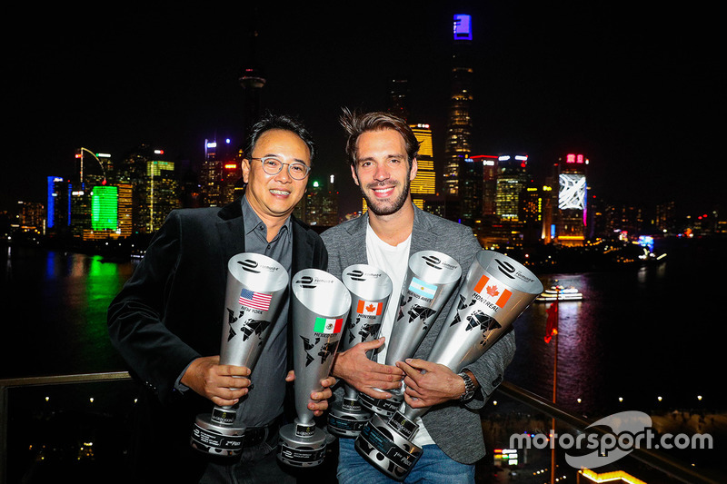 Ivan Yim, Techeetah managing director, Jean-Eric Vergne, Techeetah
