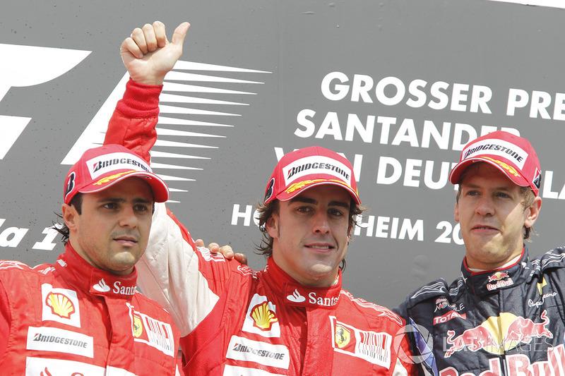 59- Fernando Alonso, 1º en el GP de Alemania 2010 con Ferrari