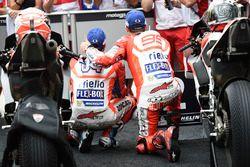 Ganador, Andrea Dovizioso, Ducati Team, segundo, Jorge Lorenzo, Ducati Team