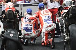Race winner Andrea Dovizioso, Ducati Team, second place Jorge Lorenzo, Ducati Team