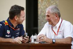 Christian Horner, Team Principal, Red Bull Racing, et Helmut Markko, Consultant, Red Bull Racing