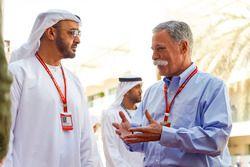 Председатель Formula One Group Чейз Кэри и шейх Мохаммед бин Зайед бин Султан Аль-Нахьян