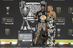2017 champion Martin Truex Jr., Furniture Row Racing Toyota, with girlfriend Sherry Pollex