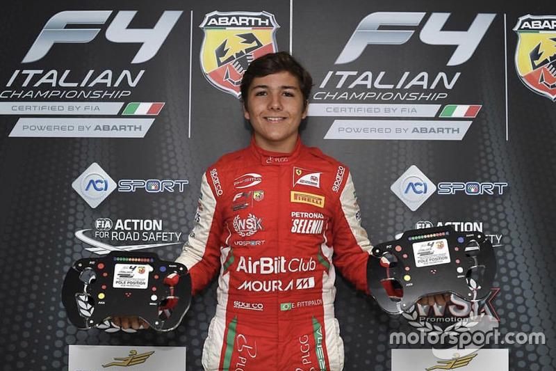 Ganador de la pole Enzo Fittipaldi, Prema Theodore Racing