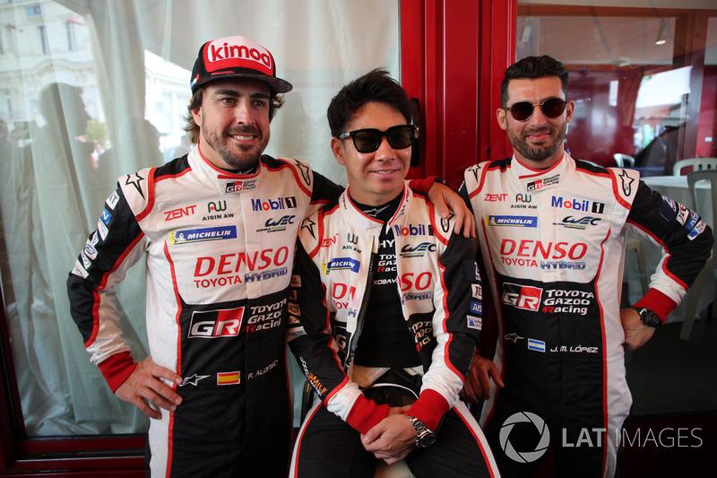 Фернандо Алонсо, Камуи Кобаяши, Хосе Мария Лопес, Toyota Gazoo Racing