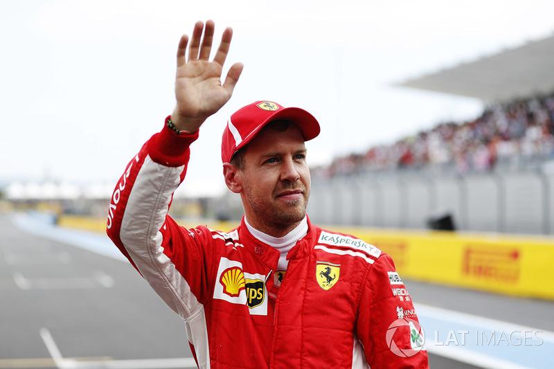 Обладатель третьего места в квалификации Себастьян Феттель, Ferrari