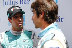 Antonio Felix da Costa, Andretti Formula E Team, talks to Nicolas Prost, Renault e.Dams