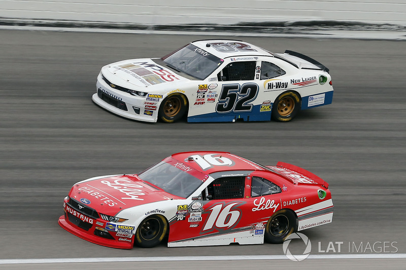 Ryan Reed, Roush Fenway Racing Ford, Joey Gase, Jimmy Means Racing Chevrolet