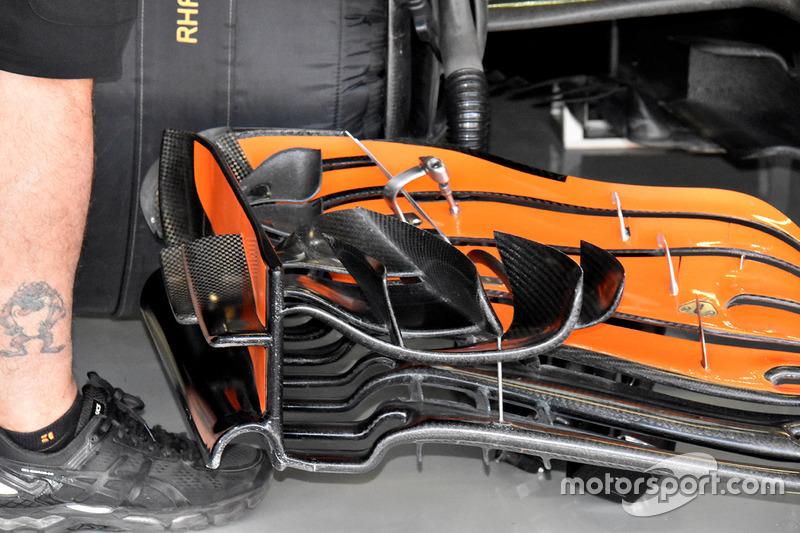 McLaren MCL32 front wing detail