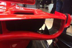 Ferrari SF70H: deviatore di flusso davanti alle pance