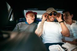 Ники Лауда, неисполнительный президент Mercedes AMG F1, Льюис Хэмилтон, Mercedes-Benz F1, Тото Вольф