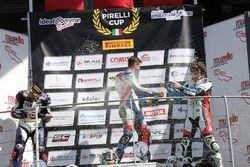 Festeggiamenti sul podio classe 1000