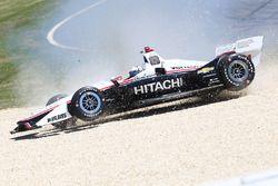 Josef Newgarden, Team Penske Chevrolet in the gravel