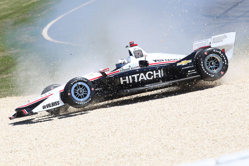 Josef Newgarden, Team Penske Chevrolet in the gravel