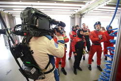 Team of #55 Spirit of Race, Ferrari F488 GTE: Duncan Cameron, Matt Griffin, Aaron Scott