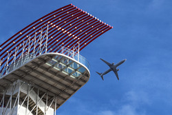 Plane and viewing tower