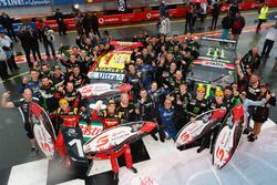 Podium: Race winners Chaz Mostert, Steven Owen, Rod Nash Racing Ford and second place Cameron Waters