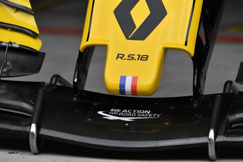 Renault Sport F1 Team RS18, detalle de la nariz