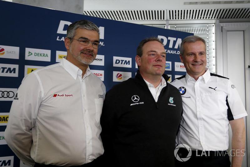 Conferencia de prensa con Dieter Gass, jefe de DTM Audi Sport, Ullrich Fritz, director de Mercedes-AMG HWA, Jens Marquardt, BMW Motorsport Director