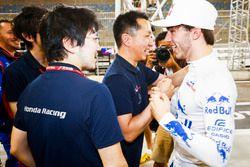 Pierre Gasly, Toro Rosso, celebra