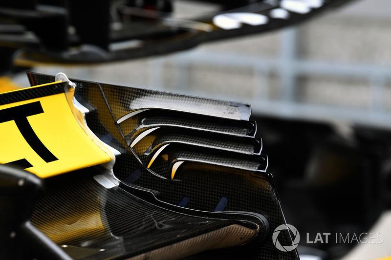 Renault Sport F1 Team R.S. 18 detalle del ala trasera