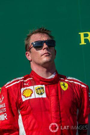 Kimi Raikkonen, Ferrari sur le podium
