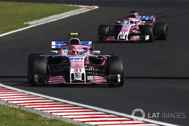 Esteban Ocon e Sergio Pérez, Force India VJM11