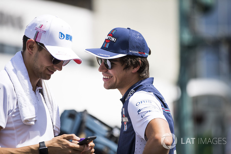Esteban Ocon, Force India y Lance Stroll, Williams Racing