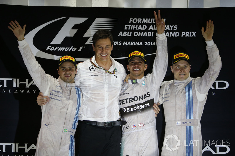 Podium: second place Felipe Massa, Williams, Toto Wolff, Executive Director, Mercedes AMG, Race winn