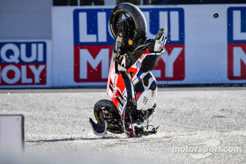 Sturz: Scott Redding, Pramac Racing