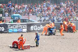 Rins and Pol Espargaro after crash