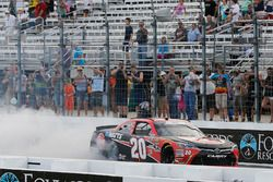 Christopher Bell, Joe Gibbs Racing, Toyota Camry Rheem celebrates after winning Russel LaBounty