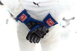 The gloves of Valtteri Bottas, Mercedes AMG F1