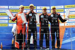 Podium: race winners #26 G-Drive Racing Oreca 07 - Gibson: Roman Rusinov, Andrea Pizzitola, Jean-Eric Vergne,