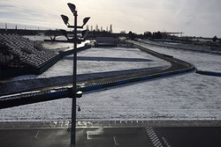 Magny-Cours circuit under the snow