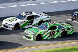 Tyler Reddick, JR Motorsports, BurgerFi Chevrolet Camaro and Daniel Suarez, Joe Gibbs Racing, Inters