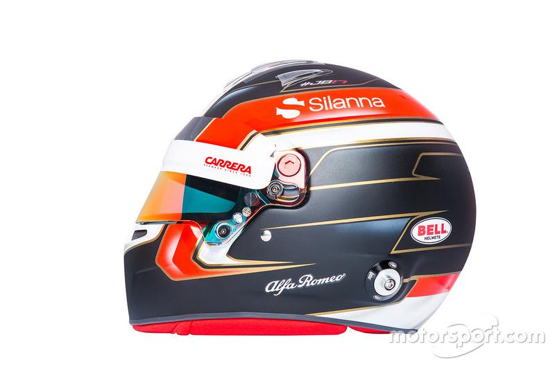 Il casco di Charles Leclerc, Sauber