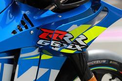 Le carénage de la moto d'Andrea Iannone, Team Suzuki MotoGP