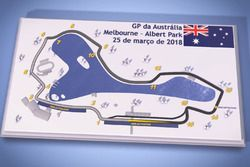 Mapa Albert Park