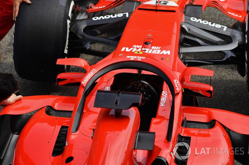 Ferrari SF71H con espejos en halo