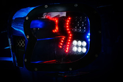 #11 SMP Racing BR Engineering BR1, headlight detail