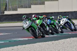 Marc Luna Bayen, CM Racing, precede Manuel Bastianelli, Prodina Ircos Kawasaki
