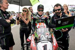 Jonathan Rea, Kawasaki Racing Team, sur la grille de départ